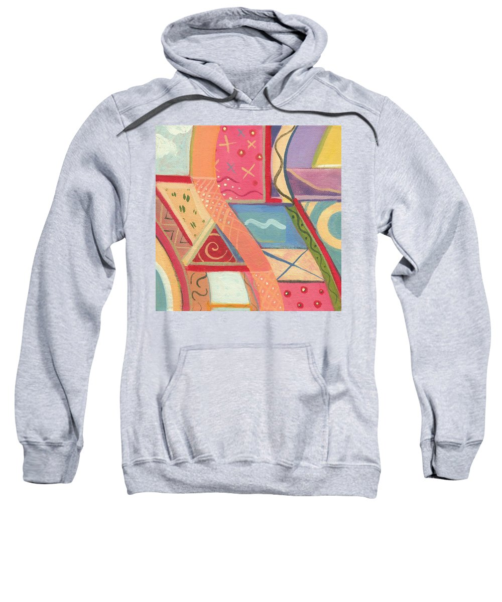 Abstract Sweatshirt featuring the digital art The Joy Of Design X I X Part 2 by Helena Tiainen