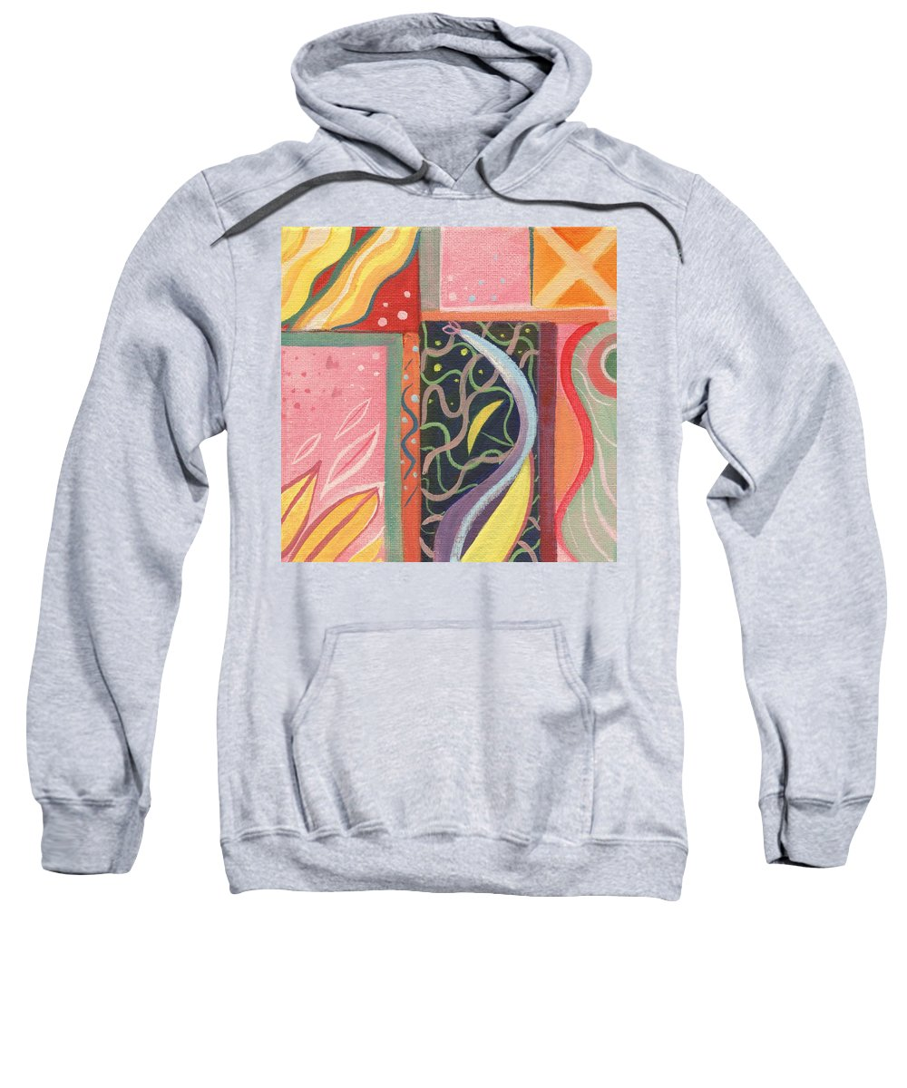 Nature Sweatshirt featuring the painting The Joy Of Design X V I by Helena Tiainen
