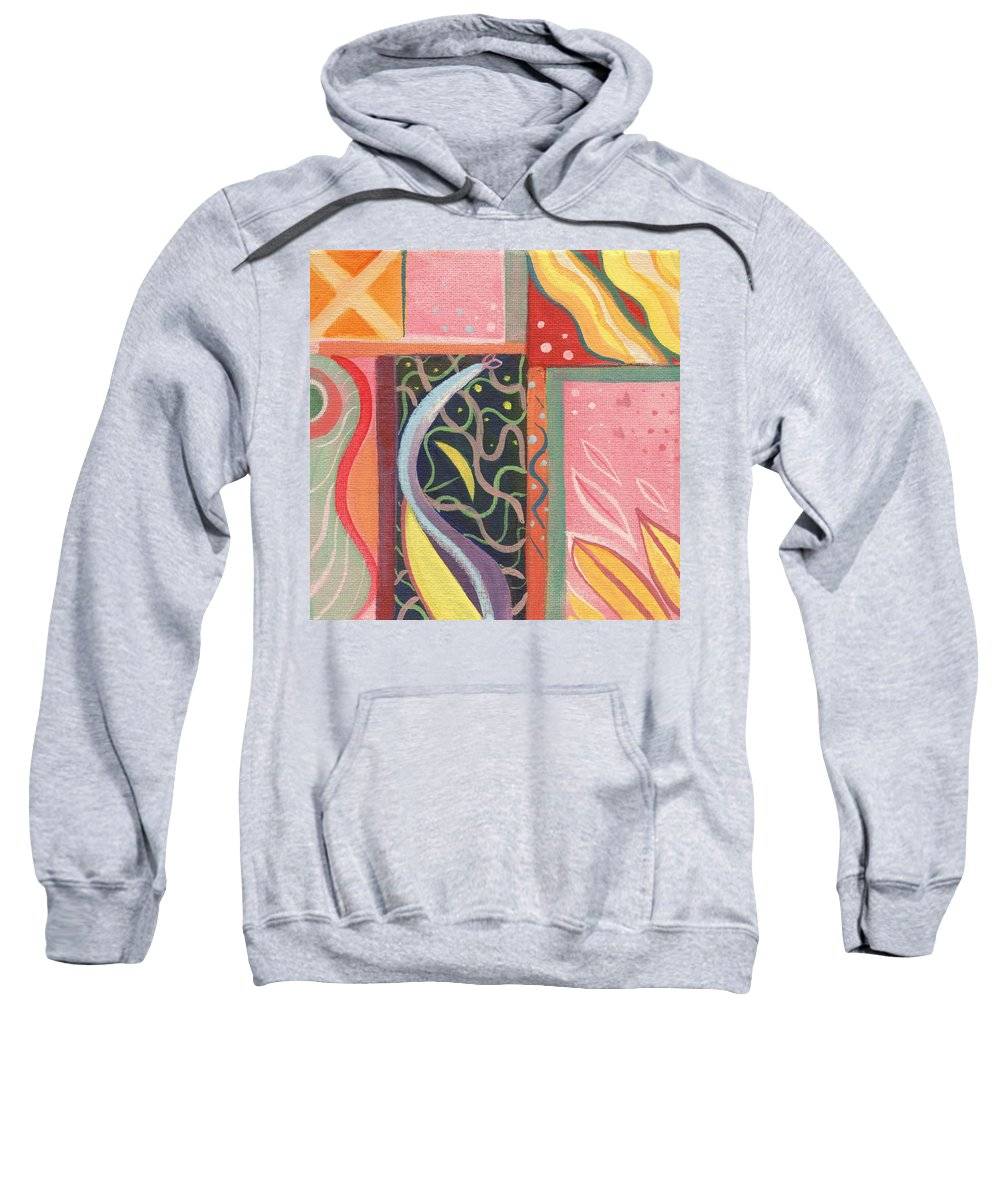 Nature Sweatshirt featuring the digital art The Joy Of Design X V I Part 2 by Helena Tiainen