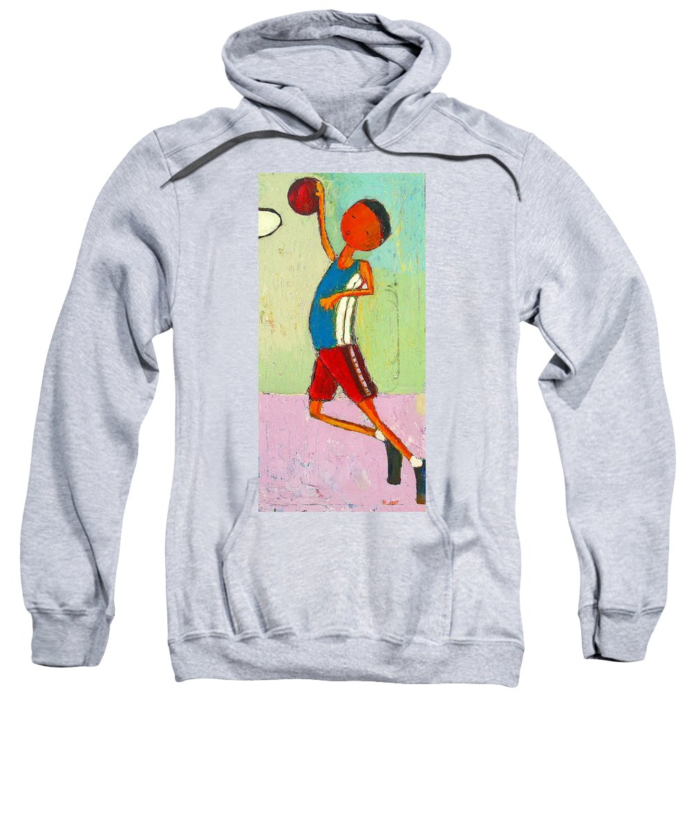 Abstract Sweatshirt featuring the painting The Little Champion by Habib Ayat