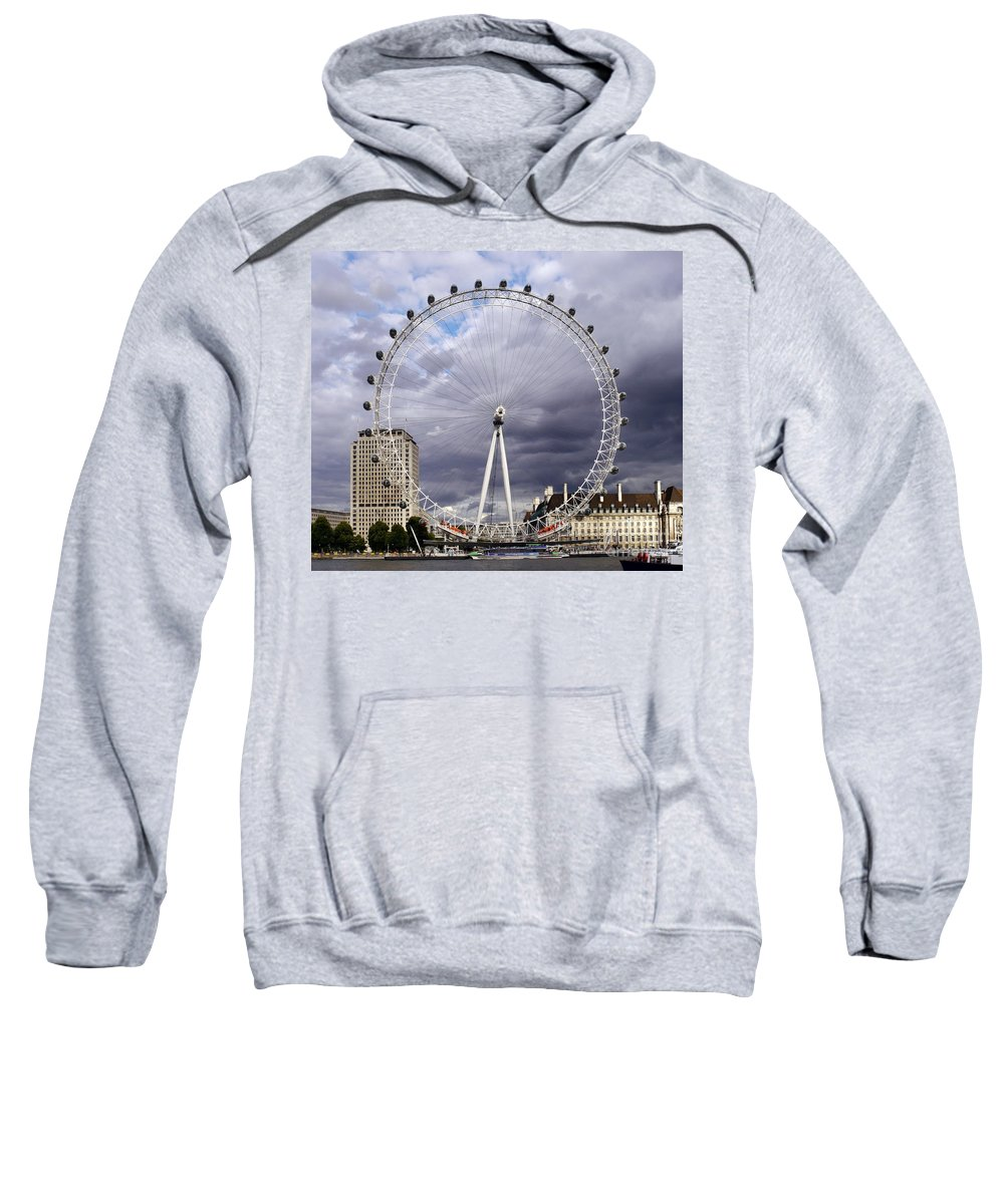 London Eye Sweatshirt featuring the photograph The London Eye by John Chatterley