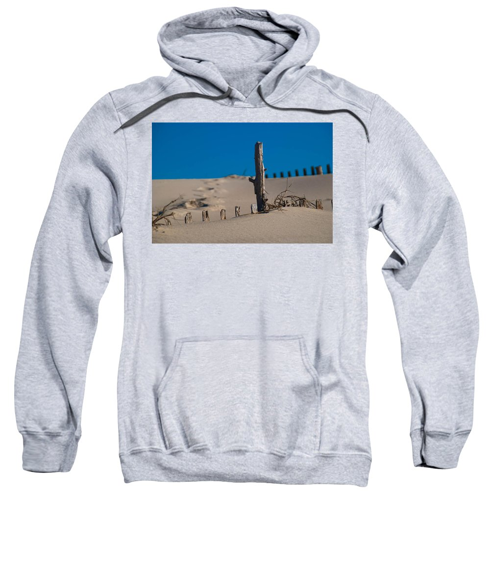 Sand Sweatshirt featuring the photograph The Lonely Driftwood by Trish Tritz