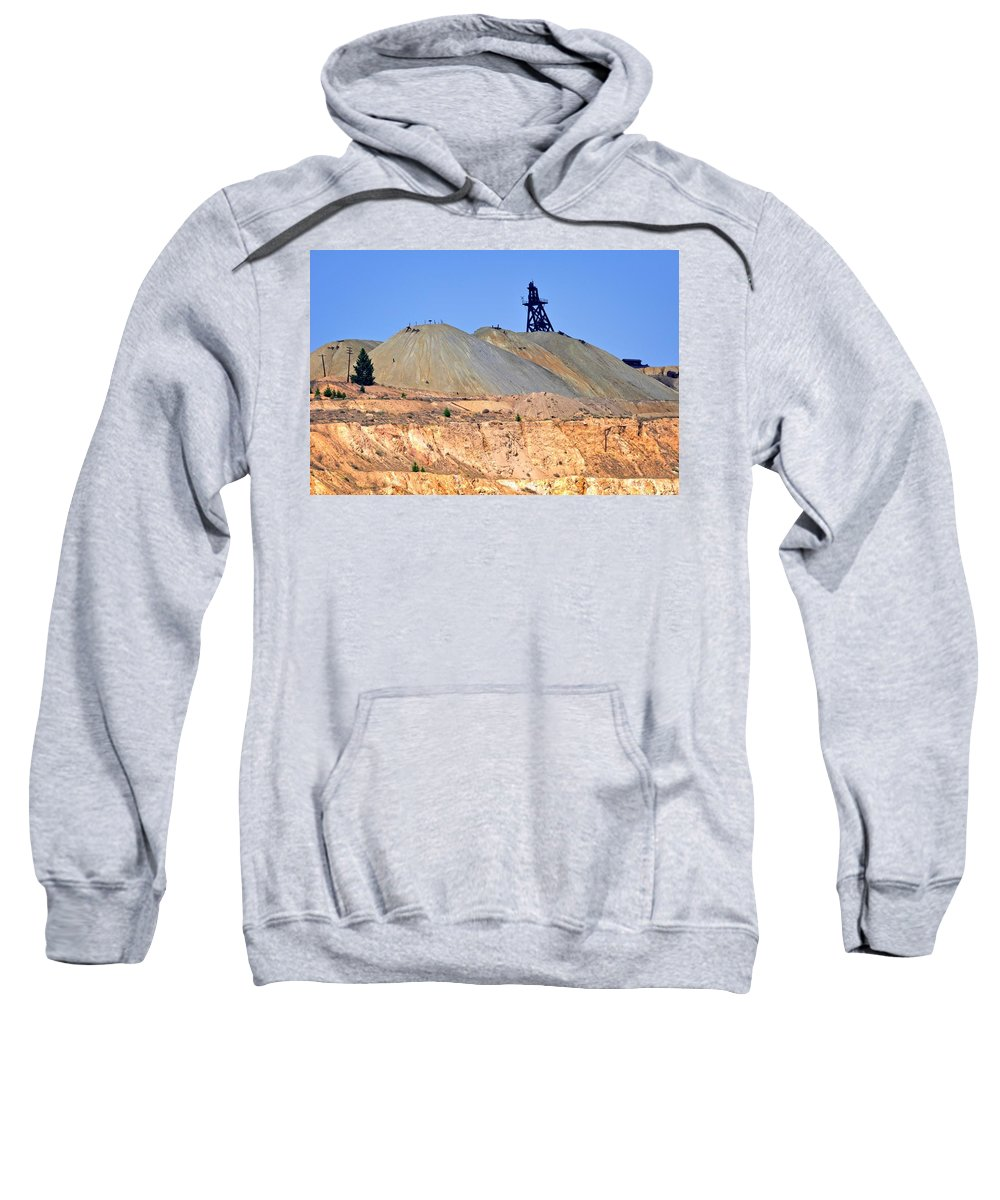 Butte Sweatshirt featuring the photograph The Mine by Image Takers Photography LLC - Laura Morgan