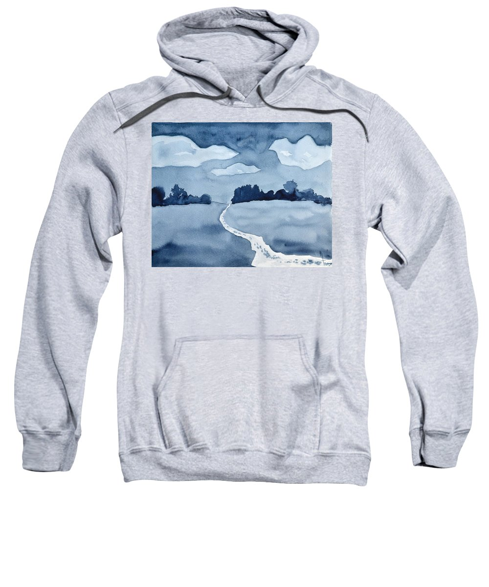 The Obvious Path Sweatshirt featuring the painting The Obvious Path by Beverley Harper Tinsley