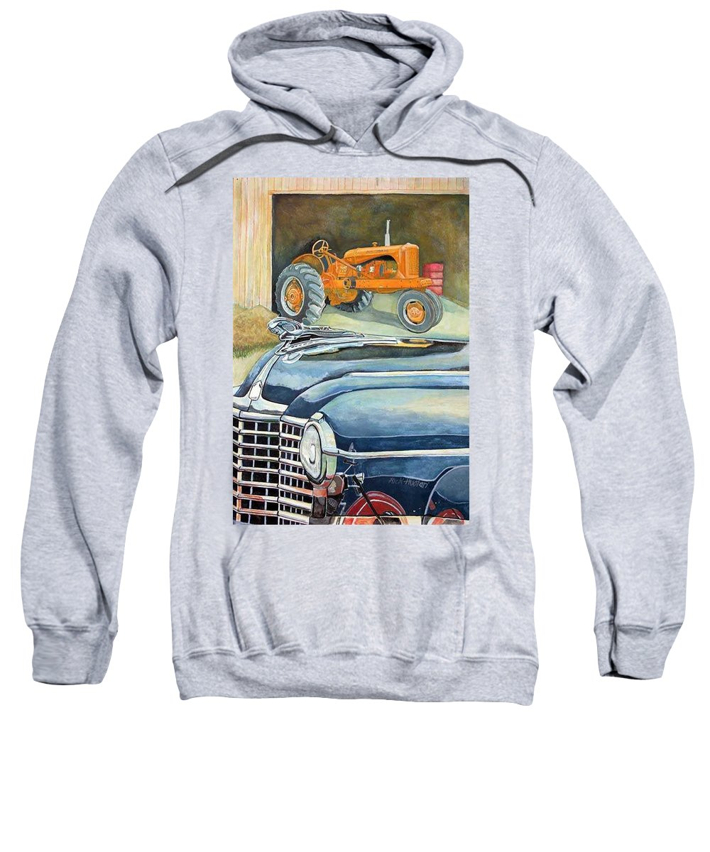 Rick Huotari Sweatshirt featuring the painting The Old Farm by Rick Huotari