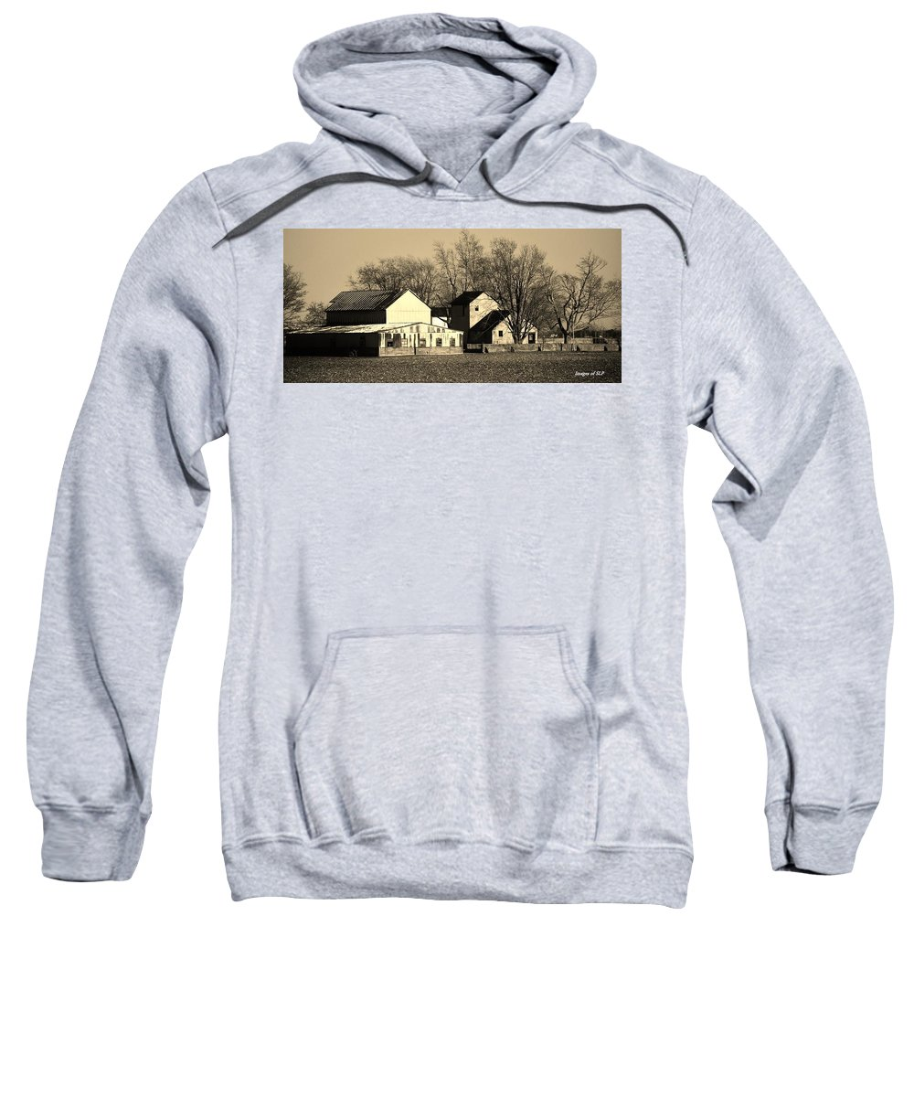 Farm Sweatshirt featuring the photograph The Old Homestead by Scott Polley