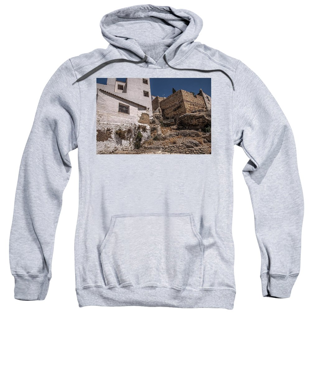 Spain Sweatshirt featuring the photograph The Old Houses Of Ronda. Andalusia. Spain by Jenny Rainbow