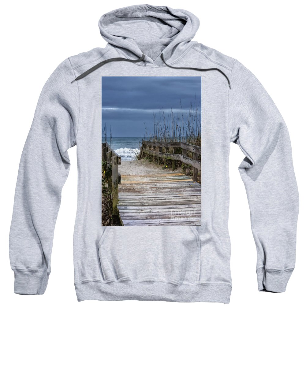 Beach Sweatshirt featuring the photograph The Old Walkway by Scott Hervieux