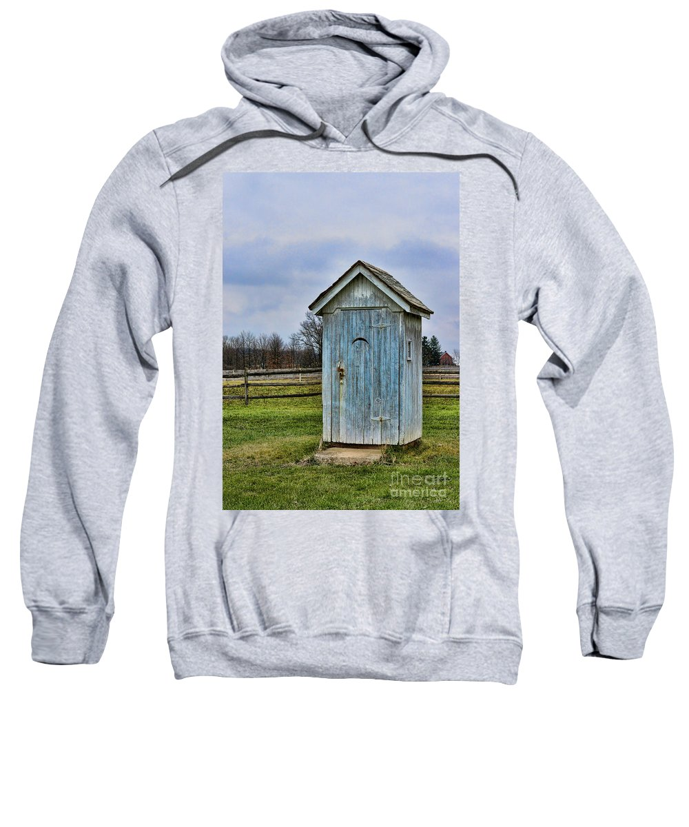 Outhouse Sweatshirt featuring the photograph The Outhouse - 4 by Paul Ward