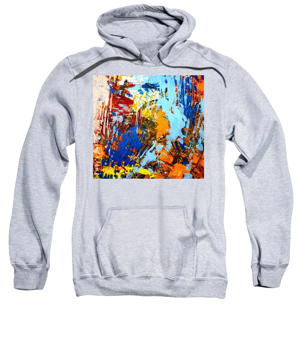 Abstract Sweatshirt featuring the painting The Painting Has A Life Of Its Own. I Try To Let It Come Through. Jackson Pollock  by John Nolan