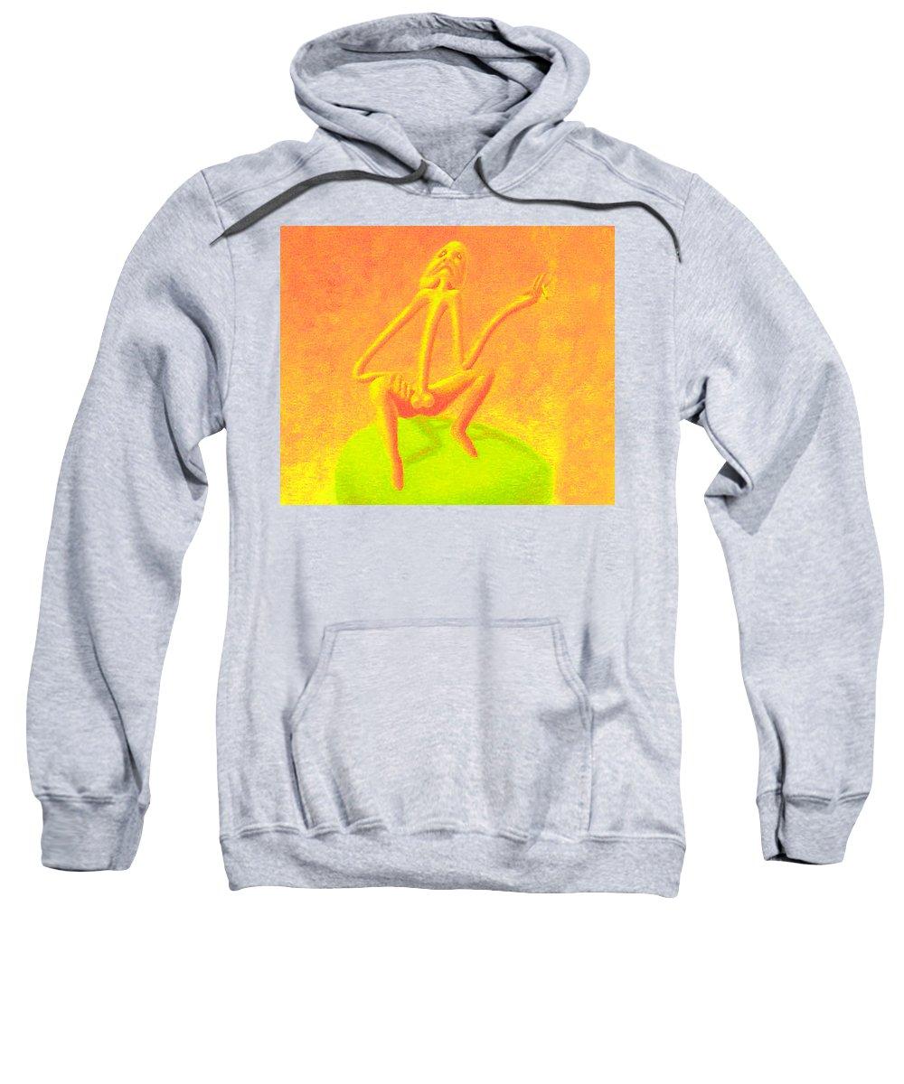 Genio Sweatshirt featuring the mixed media The Philosopher by Genio GgXpress