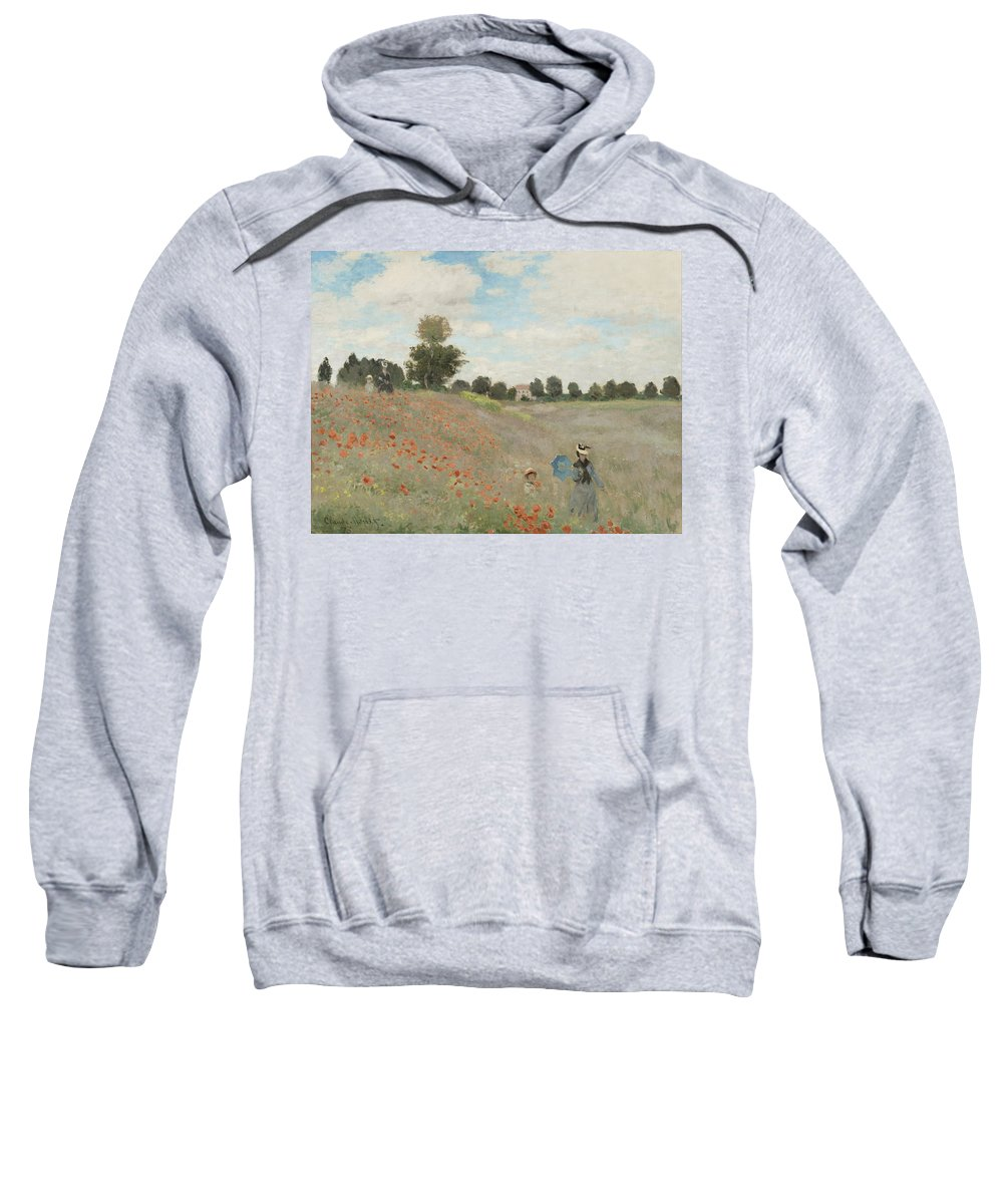 The Poppy Field Sweatshirt featuring the digital art The Poppy Field by Georgia Fowler