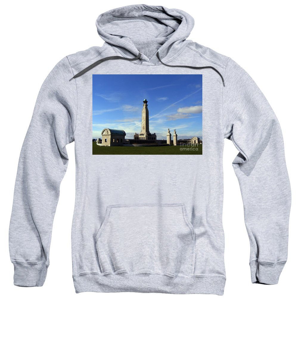 War Memorial Southsea Sweatshirt featuring the photograph The Portsmouth Naval Memorial Southsea by Terri Waters