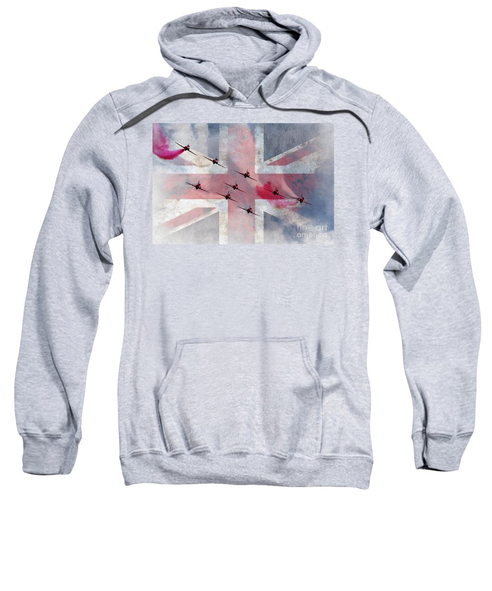 Red Arrows Sweatshirt featuring the digital art The Reds Are 50 by J Biggadike