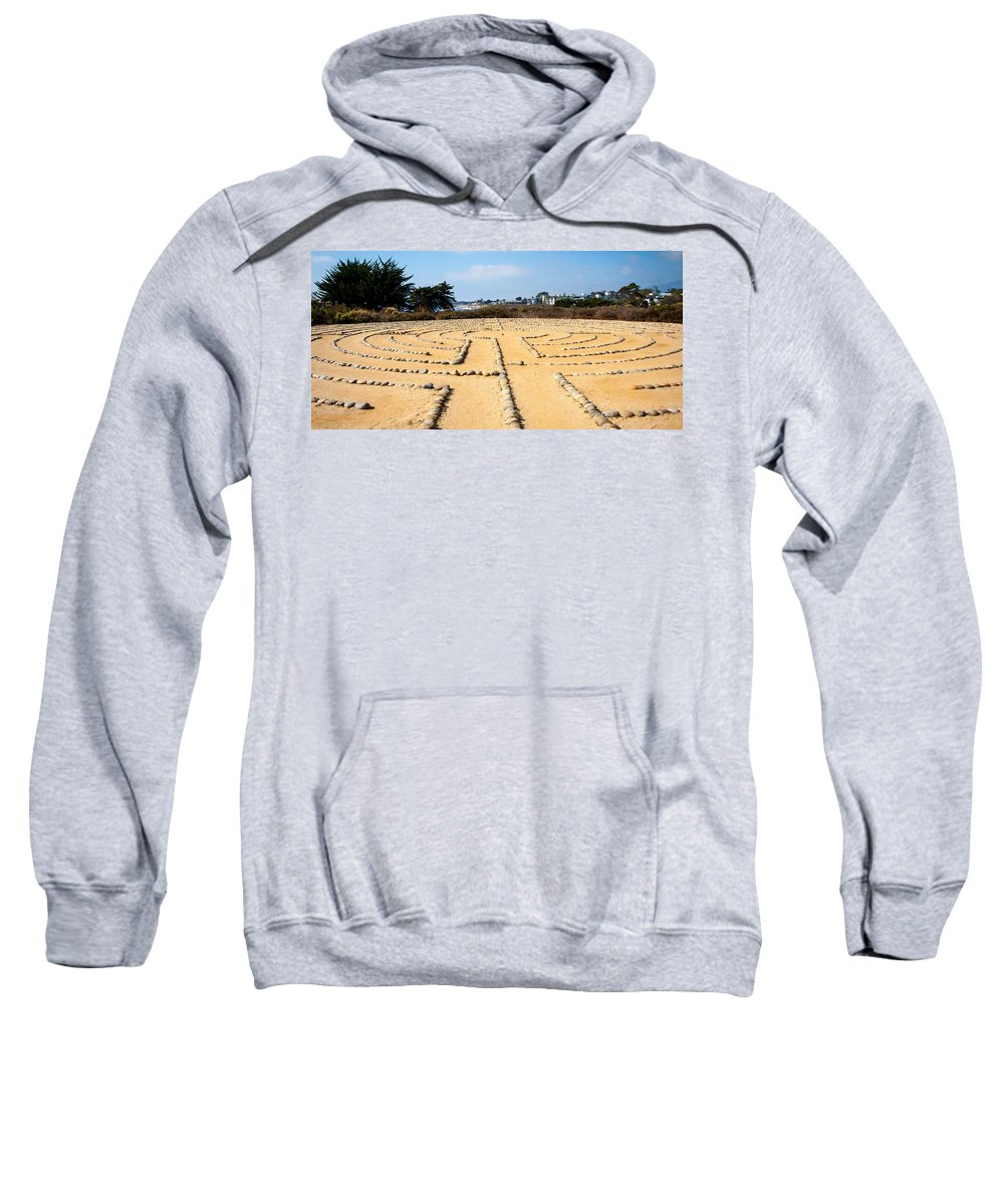 Rocks Sweatshirt featuring the photograph The Rock Maze Santa Barbara by Cathy Smith