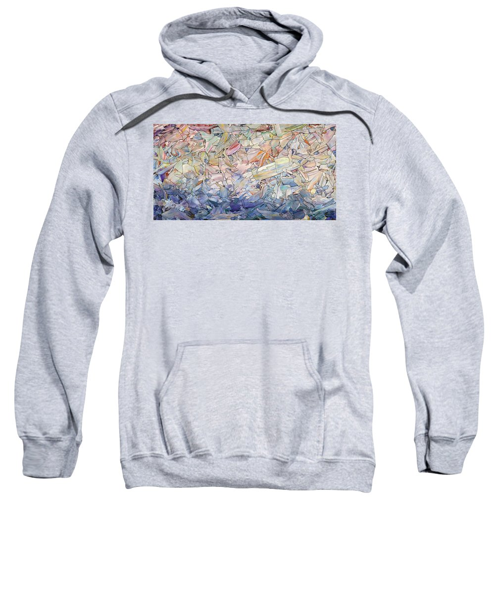 Sea Sweatshirt featuring the painting Fragmented Sea by James W Johnson