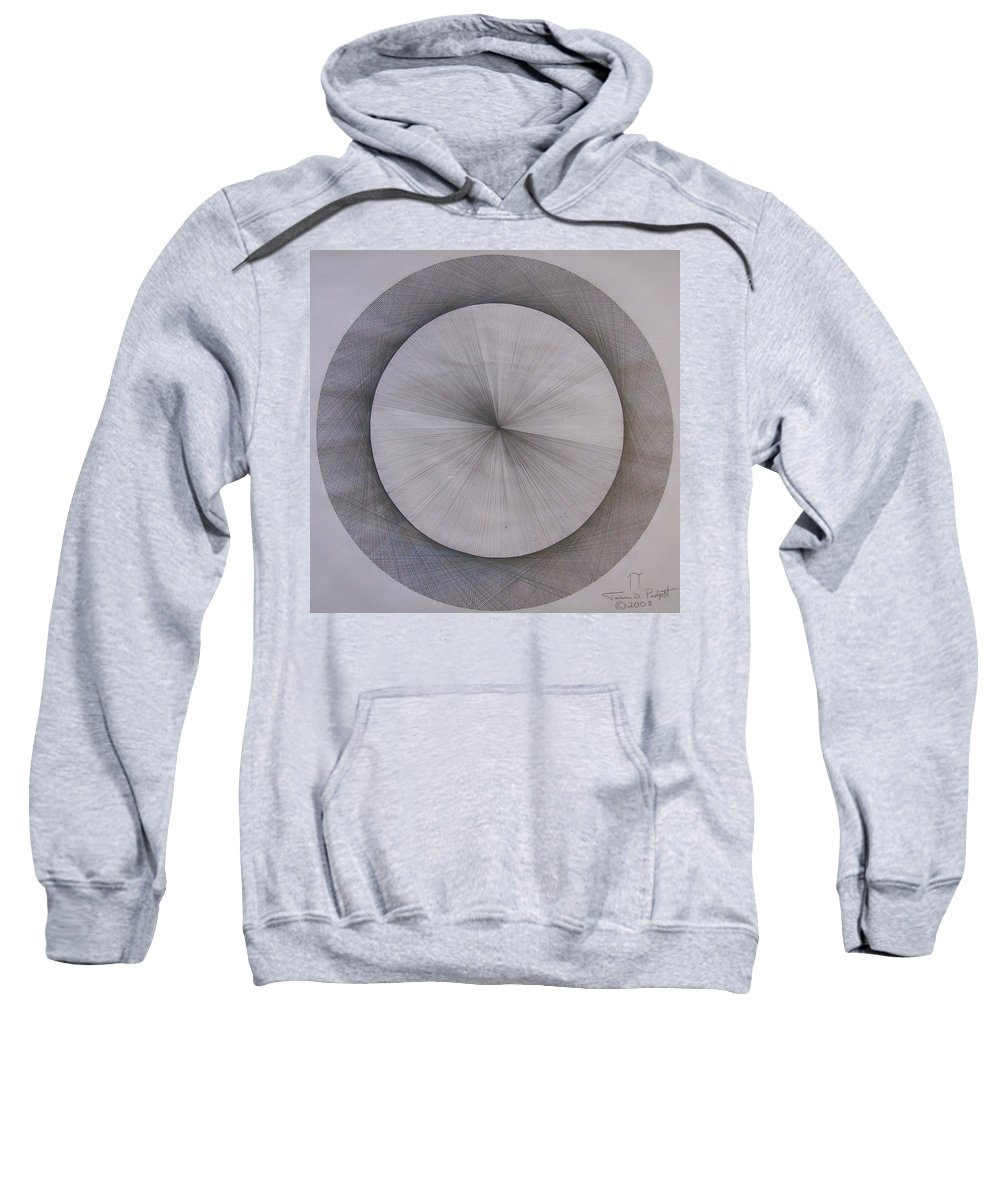 Pi Sweatshirt featuring the drawing The Shape Of Pi by Jason Padgett