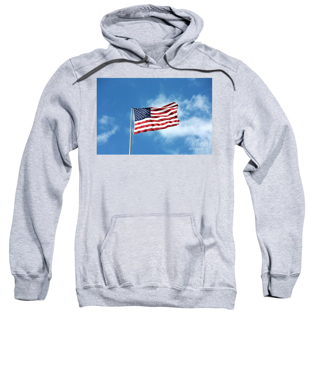 Waving American Flag Sweatshirt featuring the photograph The Stars And Stripes by Nishanth Gopinathan