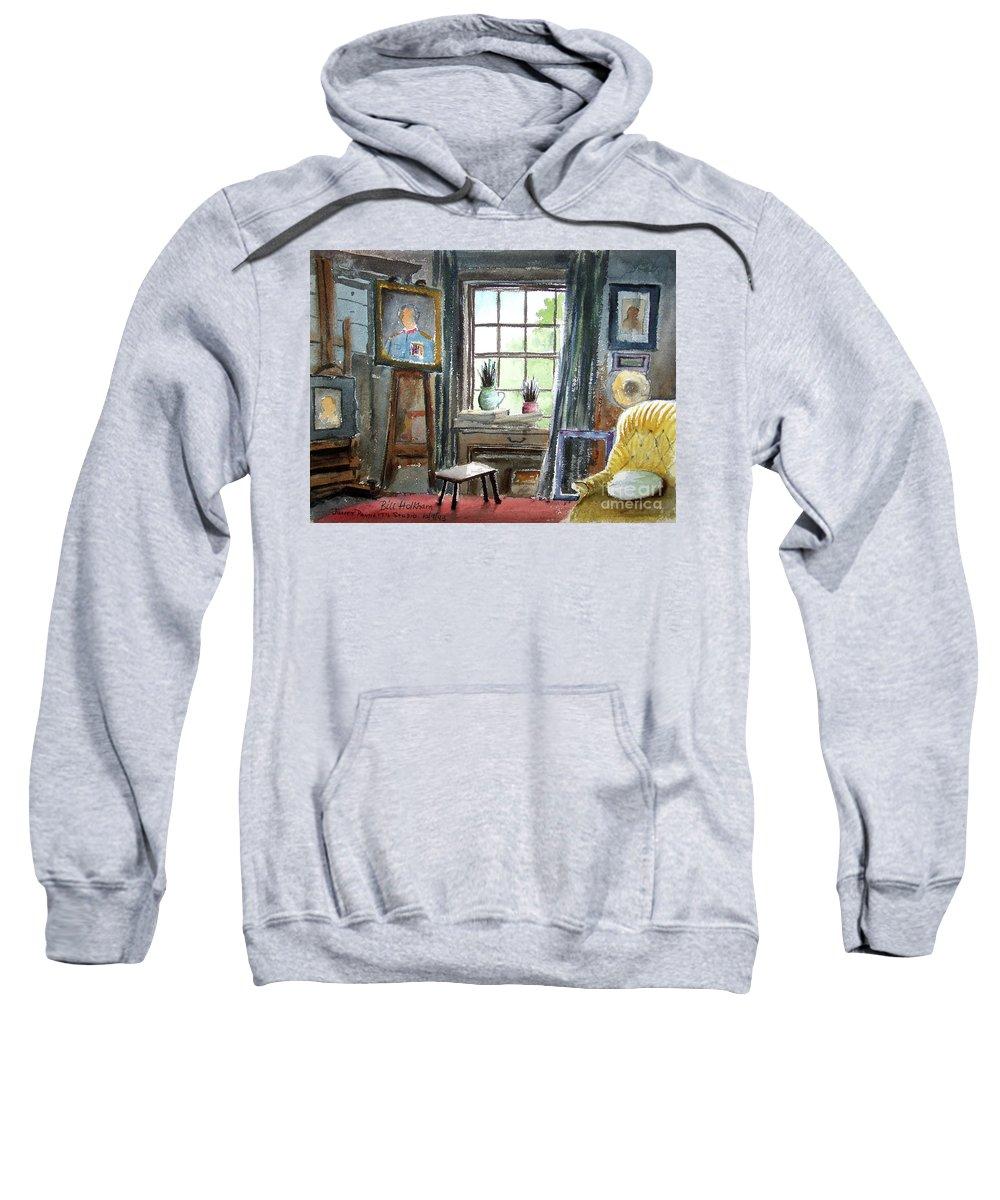 Bill Holkham Sweatshirt featuring the painting The Studio Of Juliet Pannett by Bill Holkham