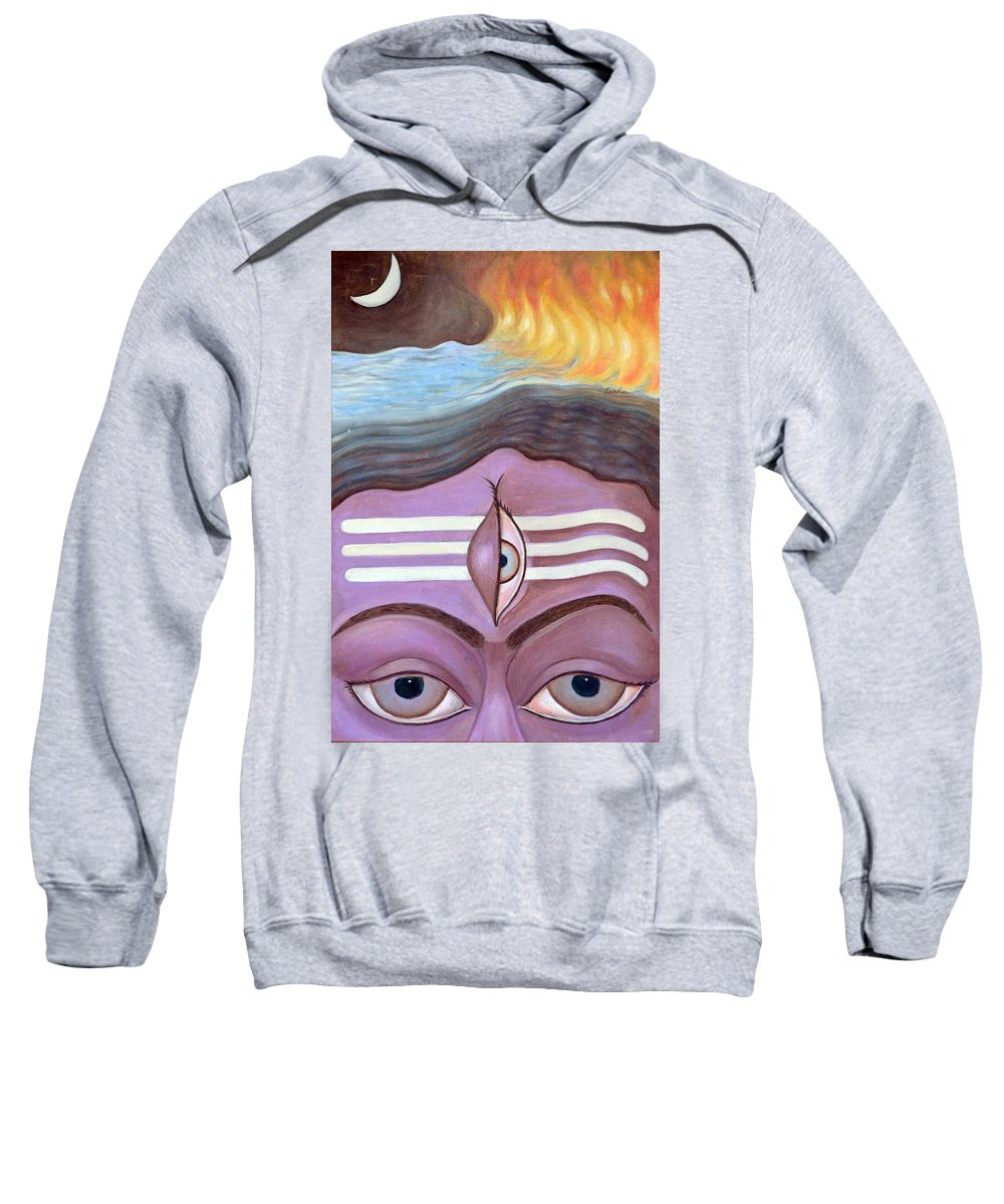 Lord Sweatshirt featuring the painting The Third Eye by Usha Shantharam