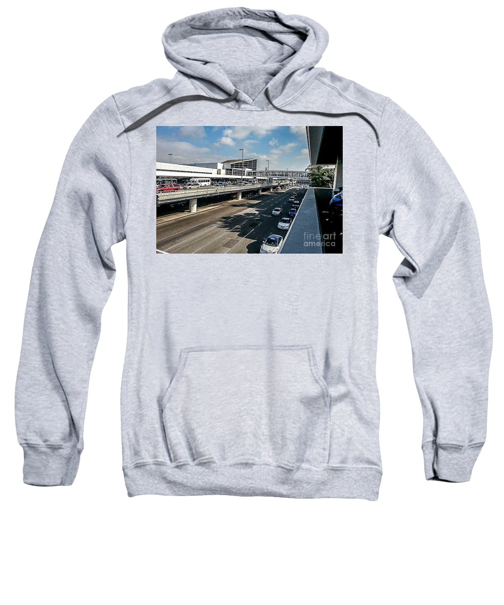 Urban Sweatshirt featuring the photograph The Tilted Exhaustion by Fei A