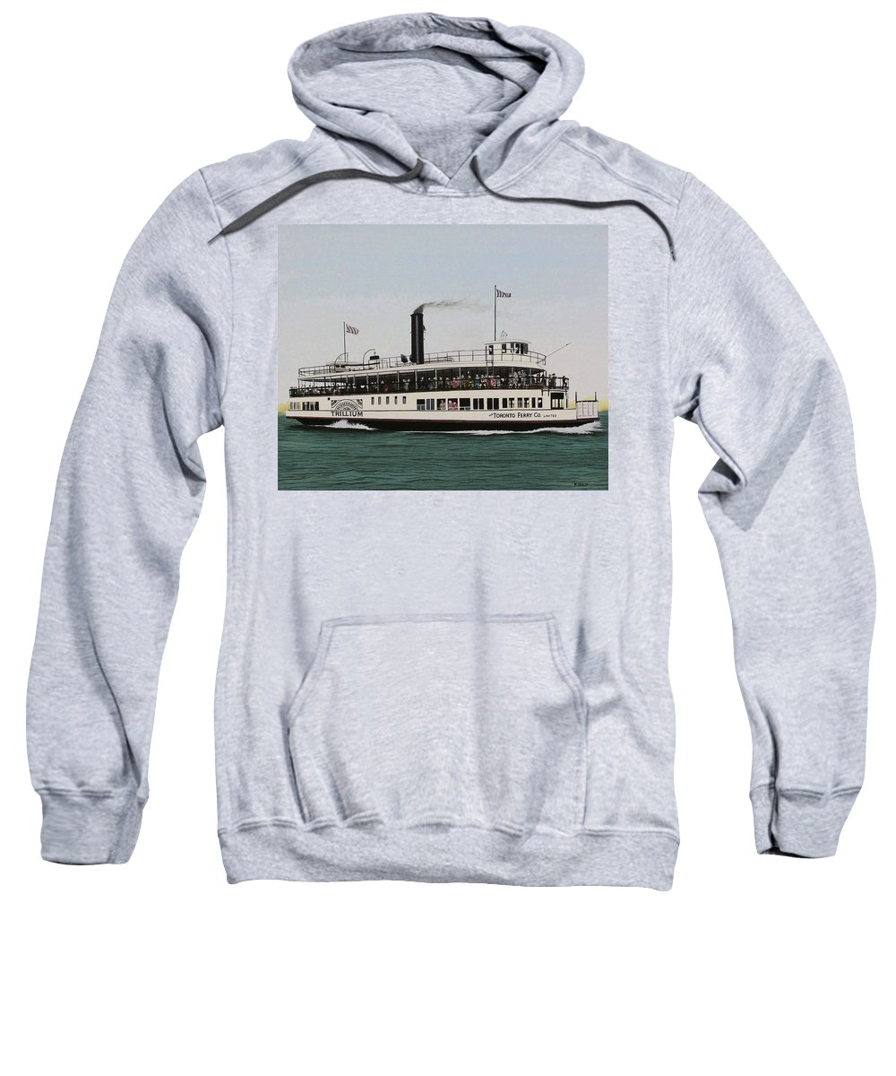 Landscapes Sweatshirt featuring the painting The Toronto Trillium by Kenneth M Kirsch