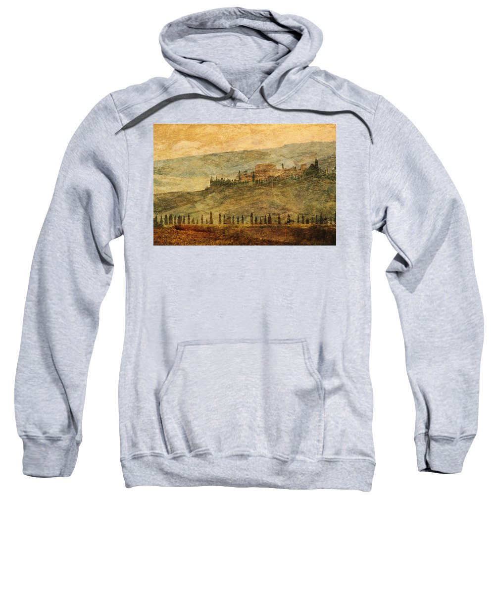 Tuscany Sweatshirt featuring the photograph The Tuscan Landscape Near Pienza by Greg Matchick