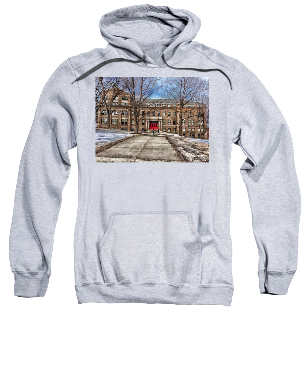 Madison Sweatshirt featuring the photograph The University Of Wisconsin Education Building by Pixabay