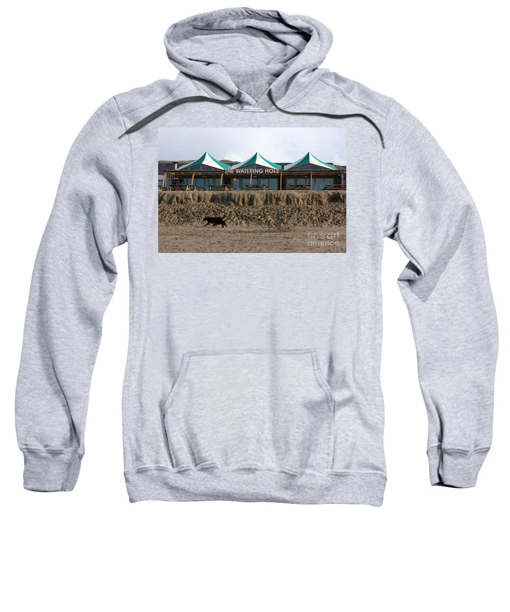 Perranporth Sweatshirt featuring the photograph The Watering Hole Perranporth by Terri Waters