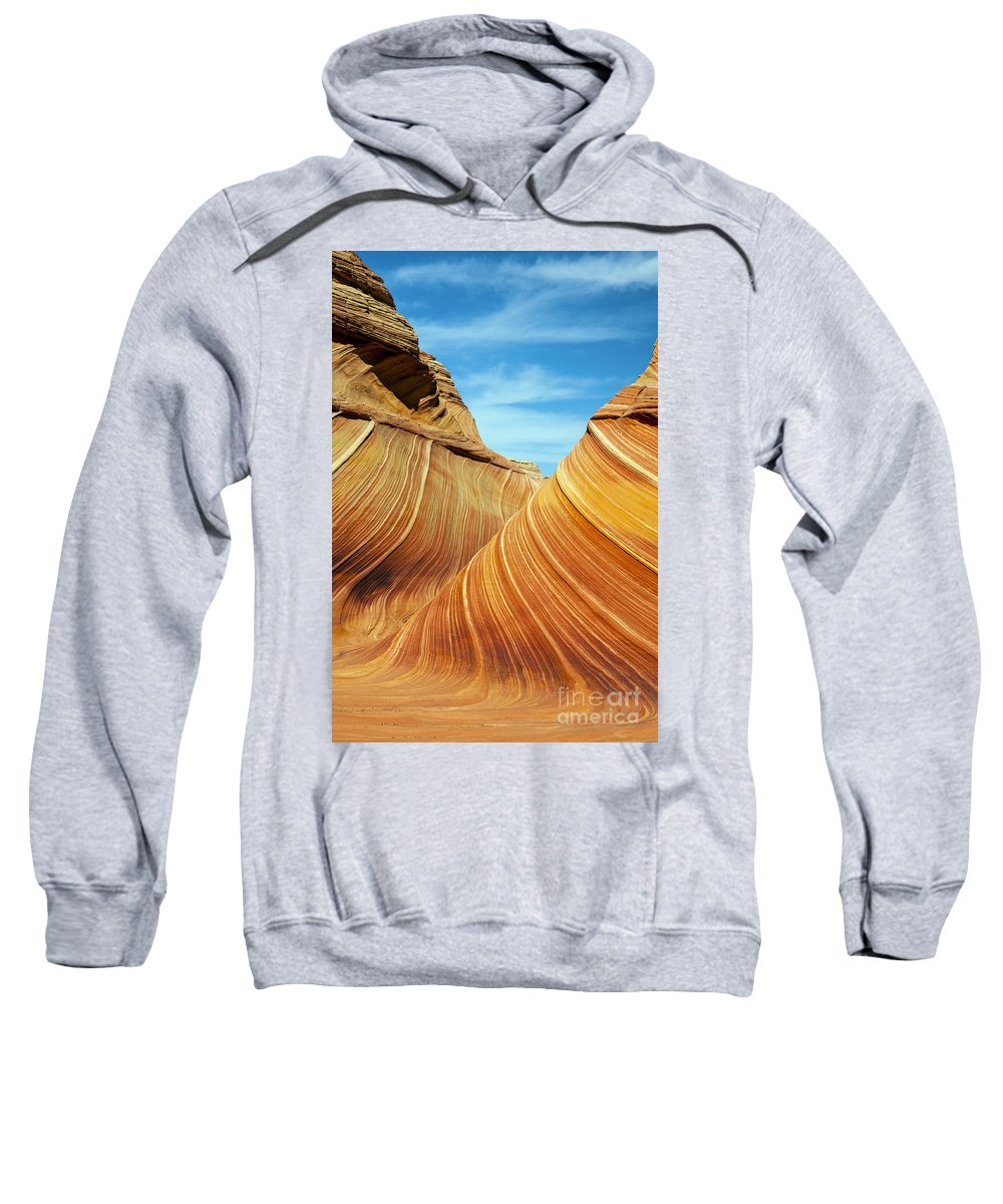 The Wave Sweatshirt featuring the photograph The Wave by Bob Phillips