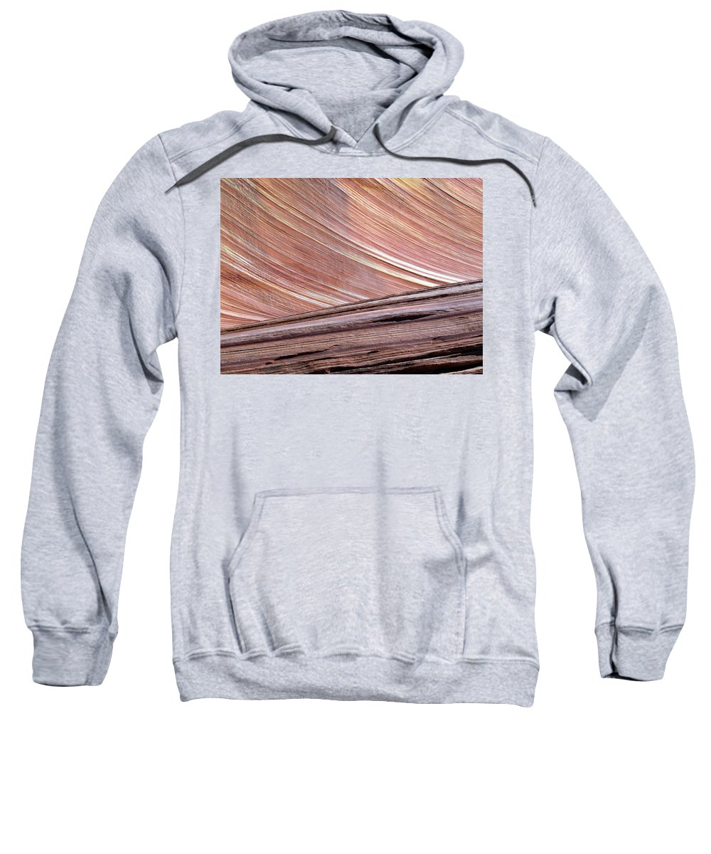 Landscape Sweatshirt featuring the photograph 'the Wave' North Coyote Buttes 02 by Jeff Brunton