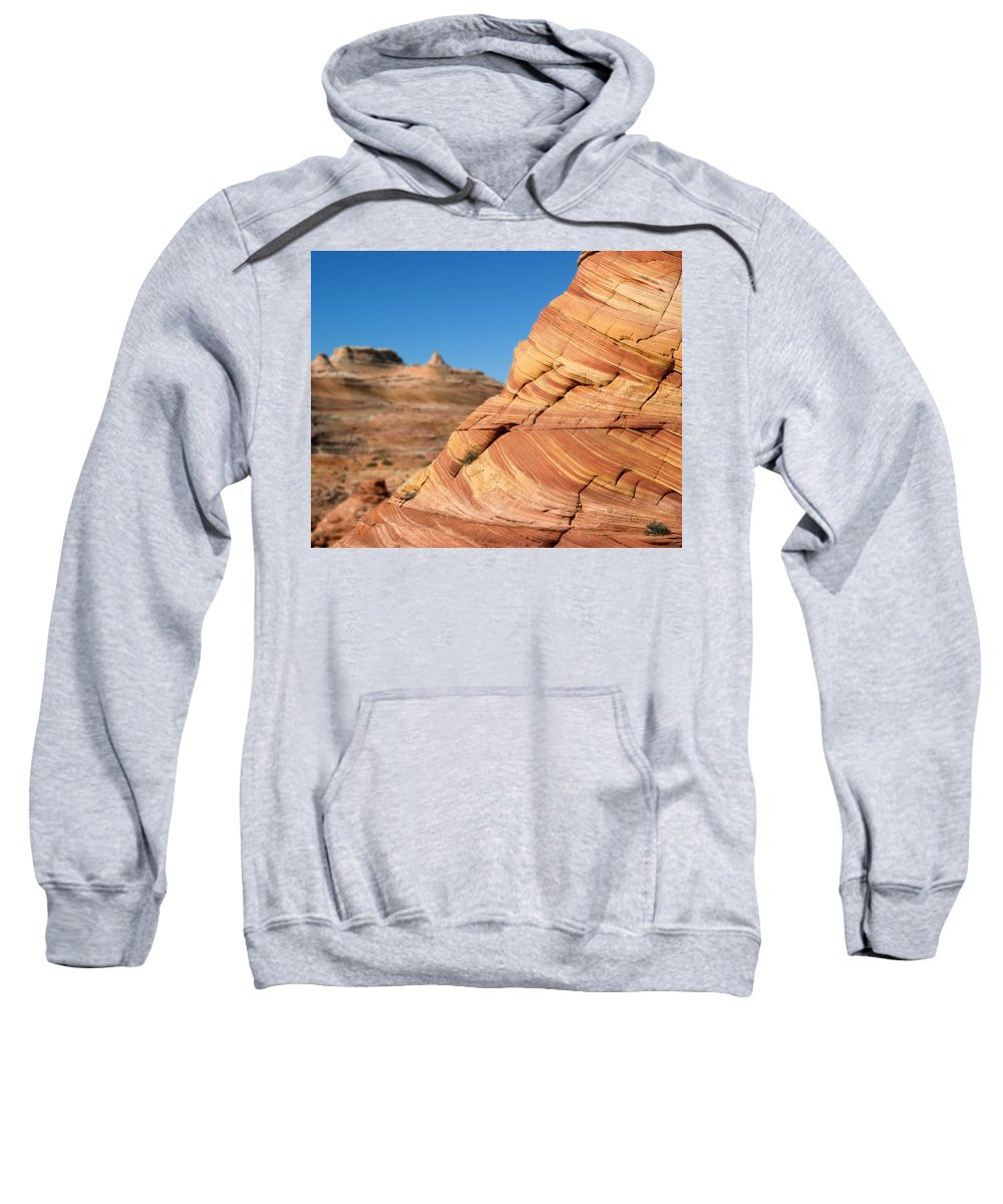 Landscape Sweatshirt featuring the photograph 'the Wave' North Coyote Buttes 13 by Jeff Brunton