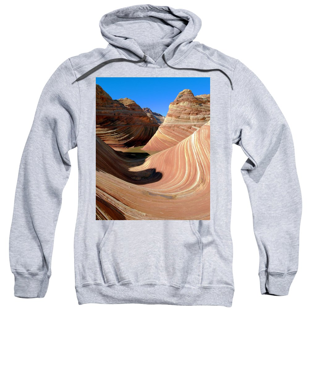 Landscape Sweatshirt featuring the photograph 'the Wave' North Coyote Buttes 19 by Jeff Brunton