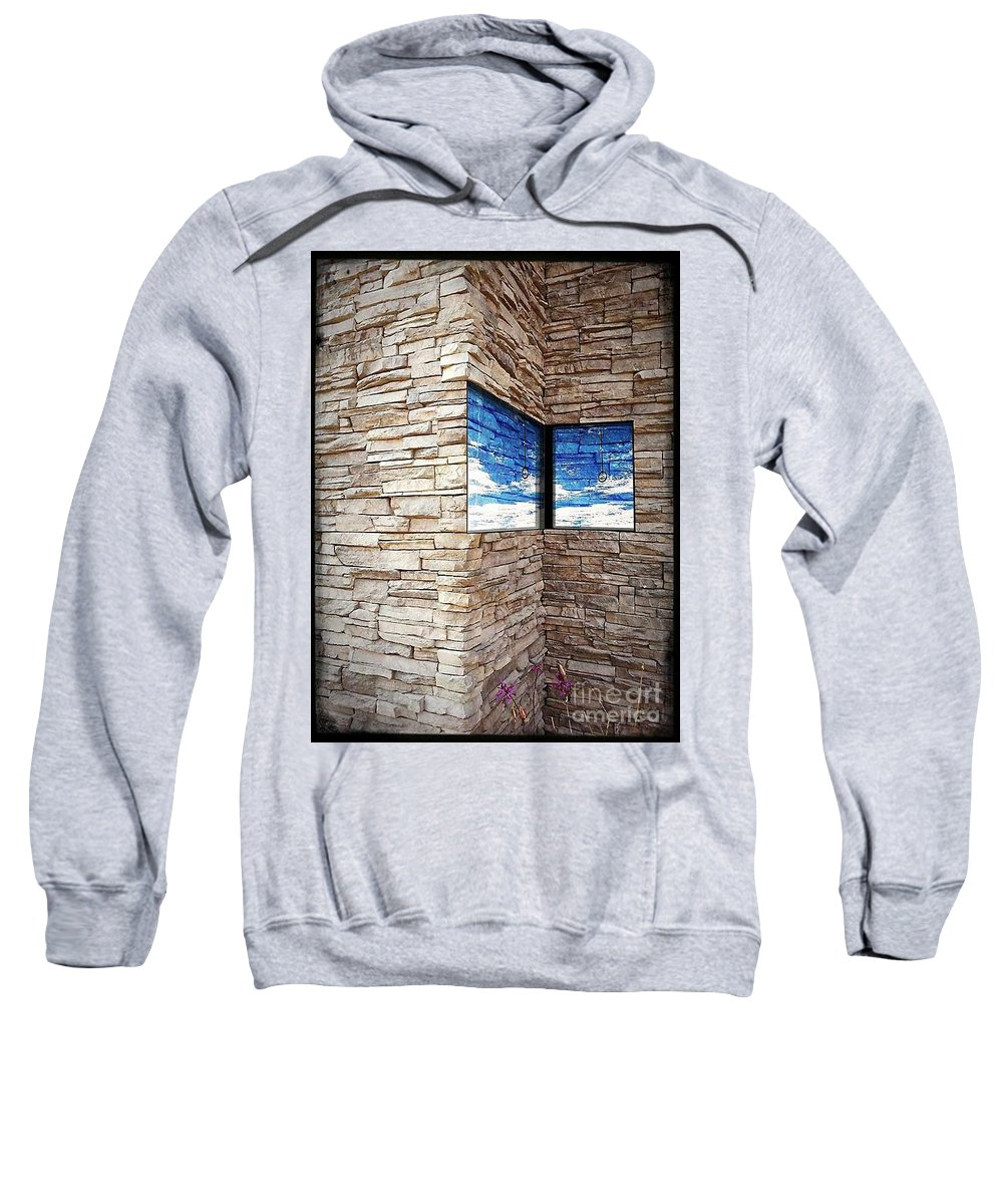 Wall Sweatshirt featuring the photograph The Whisper Wall by Fei A