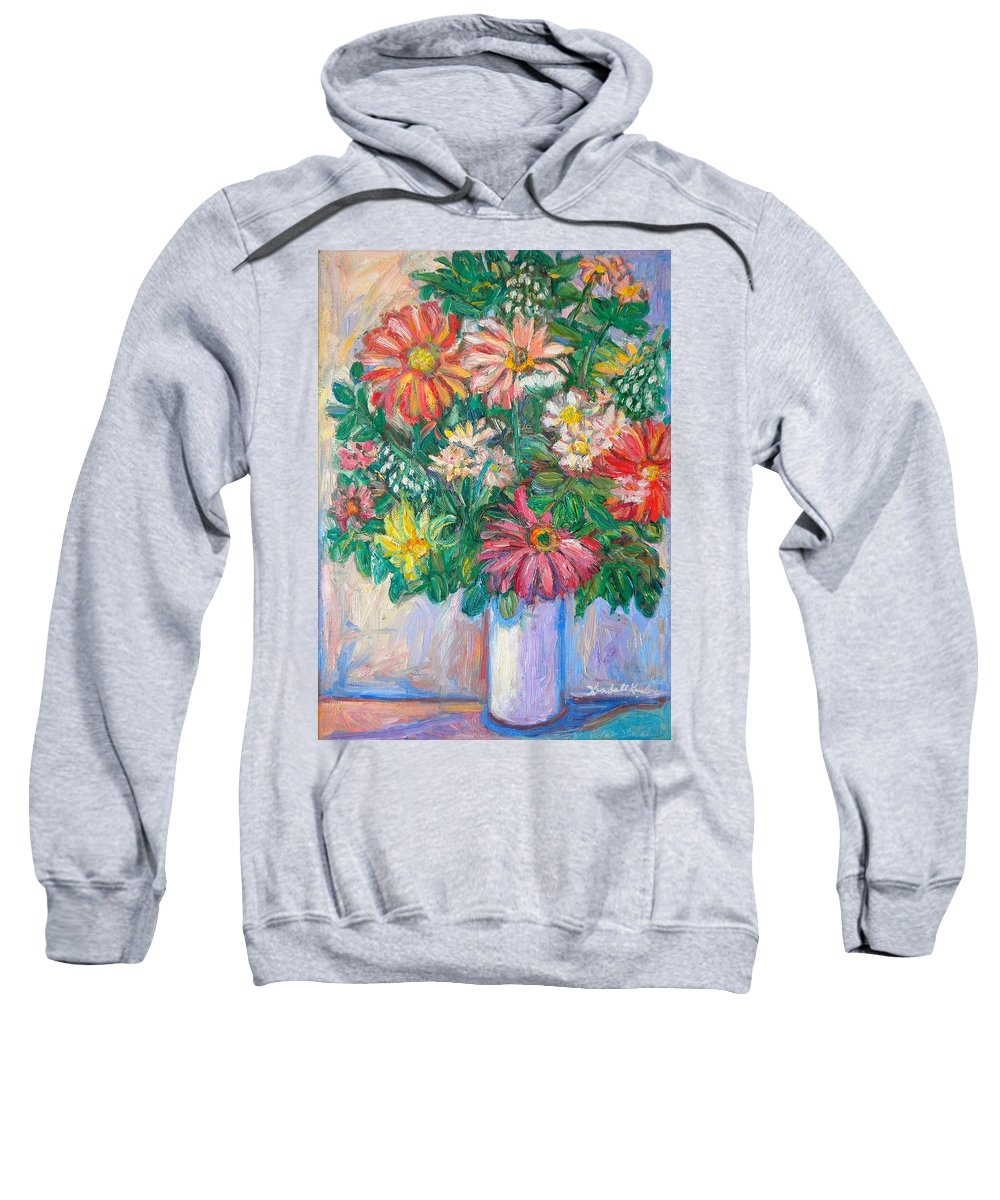 Still Life Sweatshirt featuring the painting The White Vase by Kendall Kessler