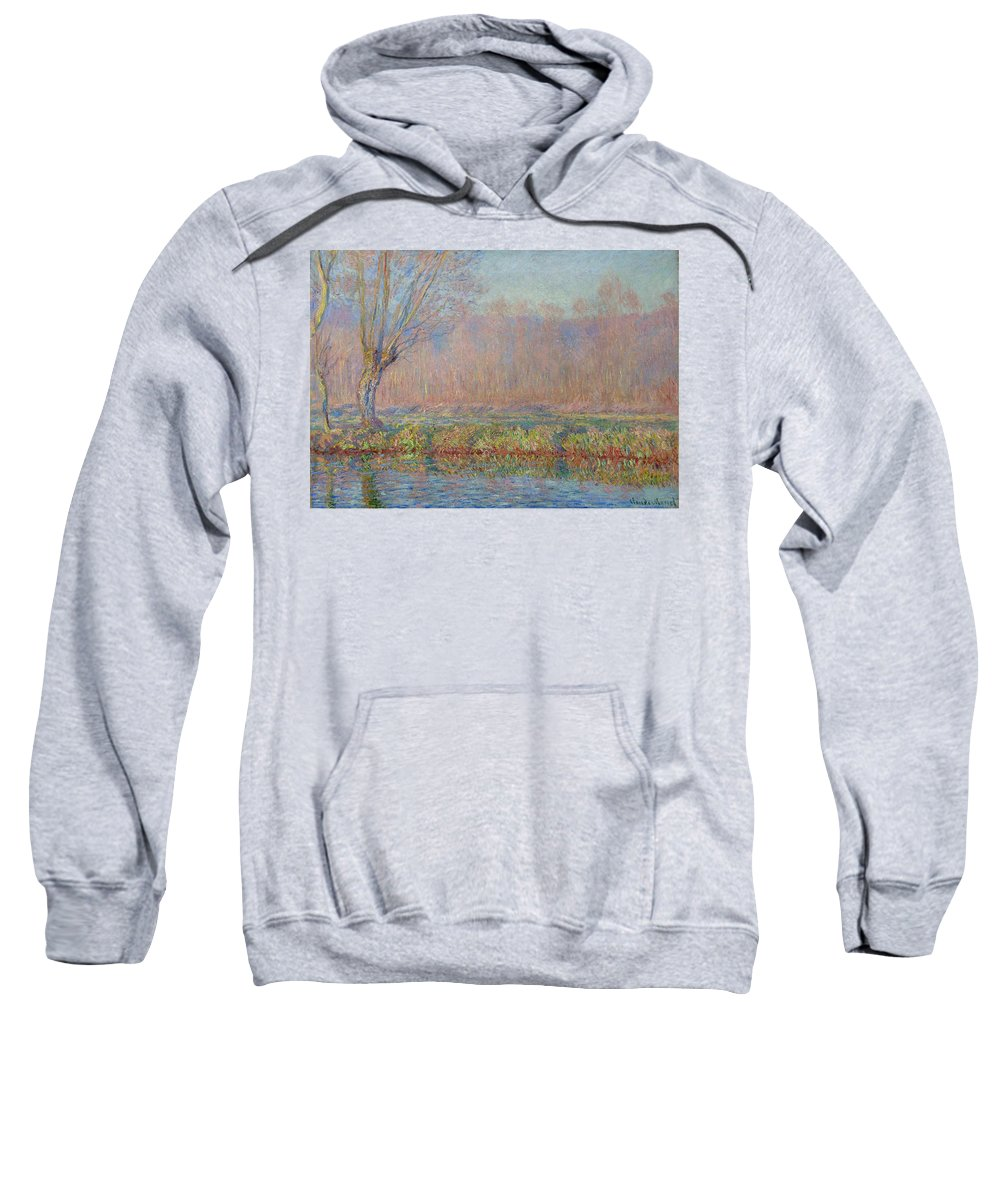 Claude Monet Sweatshirt featuring the painting The Willow by Claude Monet