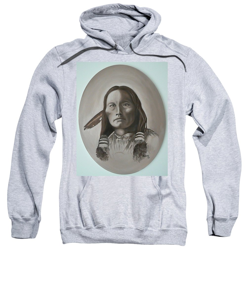 Michael Sweatshirt featuring the painting Three Fingers by Michael TMAD Finney