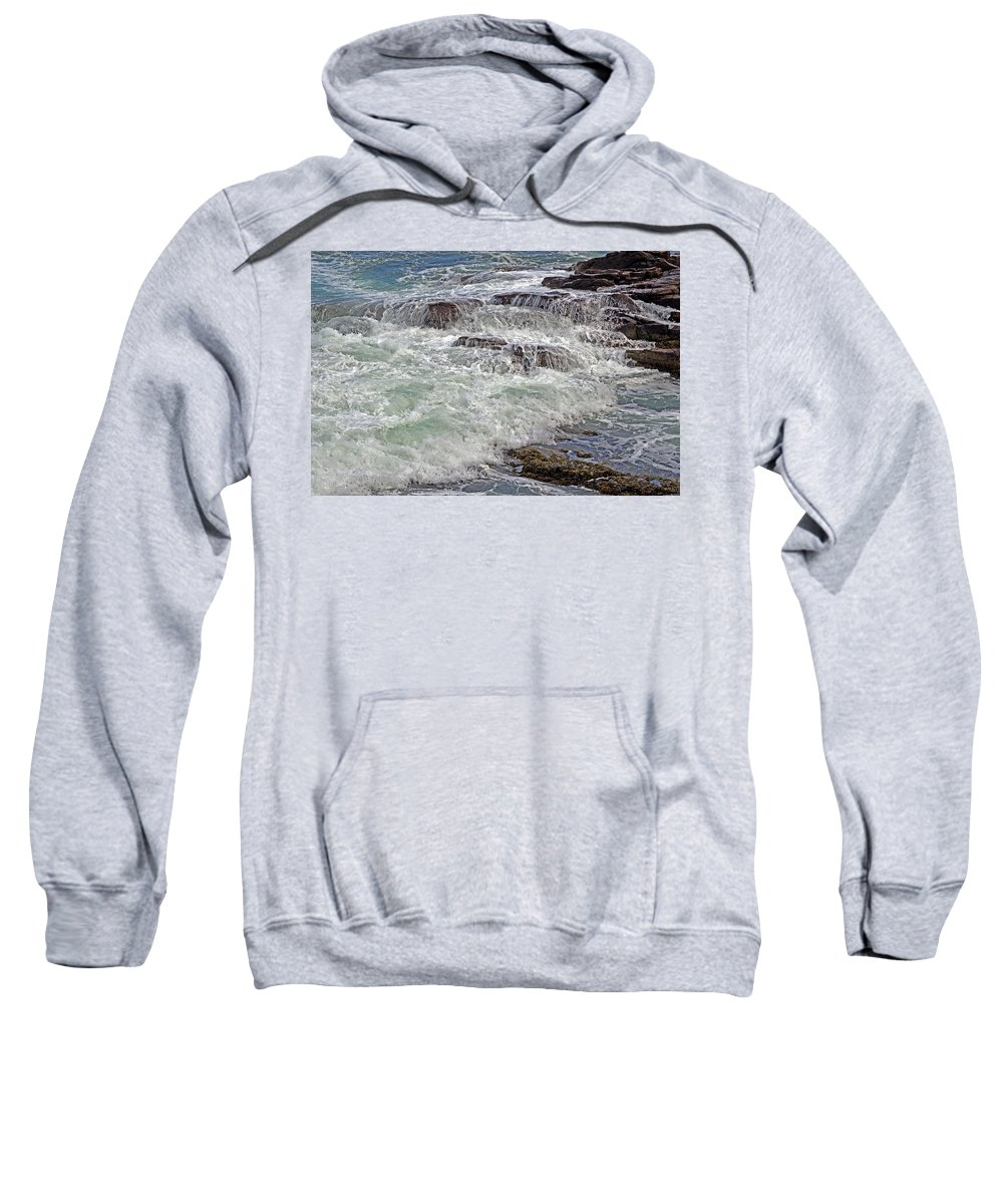 Sea Sweatshirt featuring the photograph Thunder And Lace by Lynda Lehmann