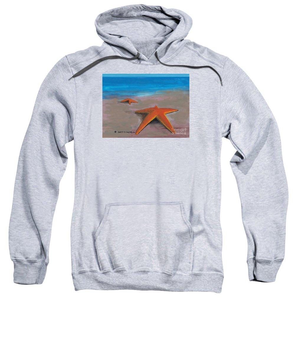 Star Fish Sweatshirt featuring the painting Tidal Plain by David Jackson