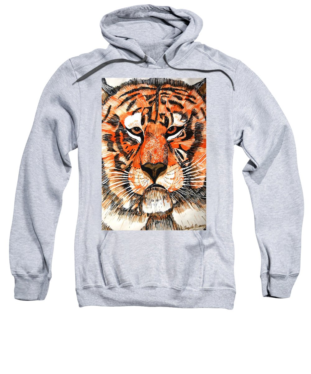 Tiger Sweatshirt featuring the photograph Tiger by Angela Murray