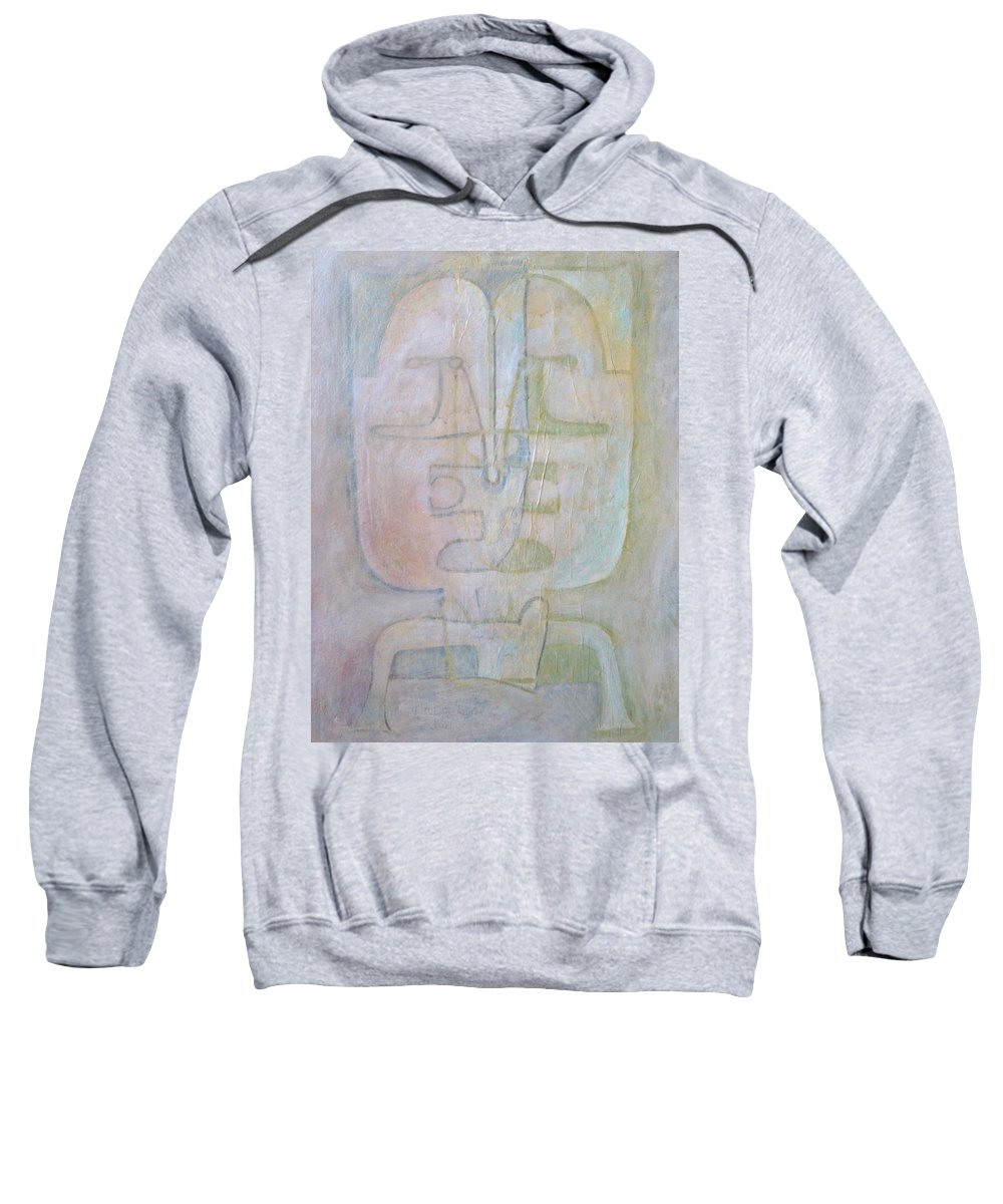 Abstract Faces Sweatshirt featuring the painting Till We Have Faces by W Todd Durrance