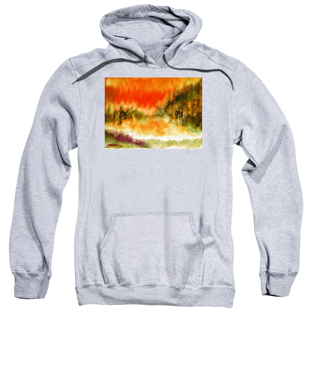 Timber Blaze Sweatshirt featuring the mixed media Timber Blaze by Seth Weaver
