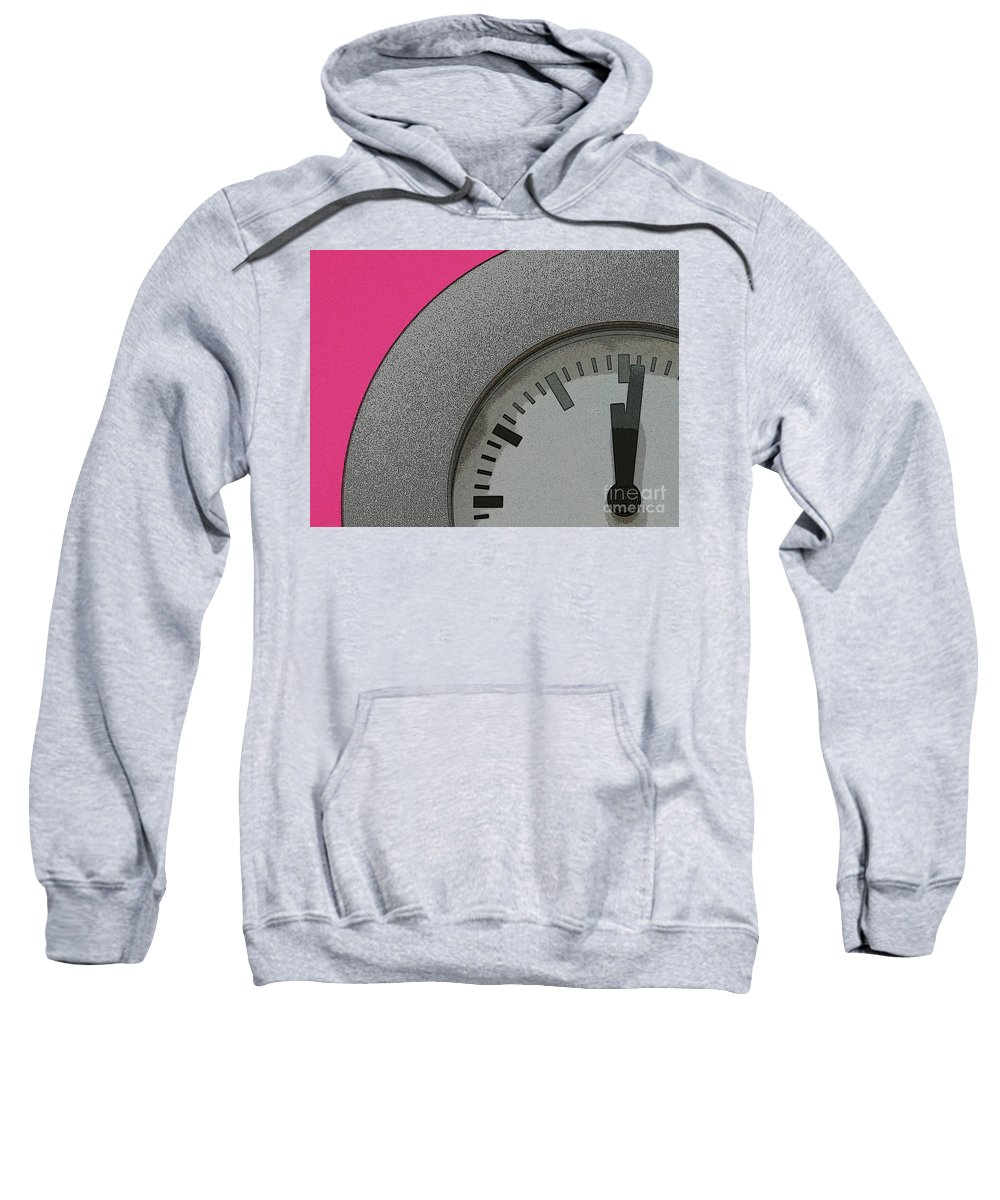 Clock Sweatshirt featuring the photograph Time Clicks On by Karol Livote
