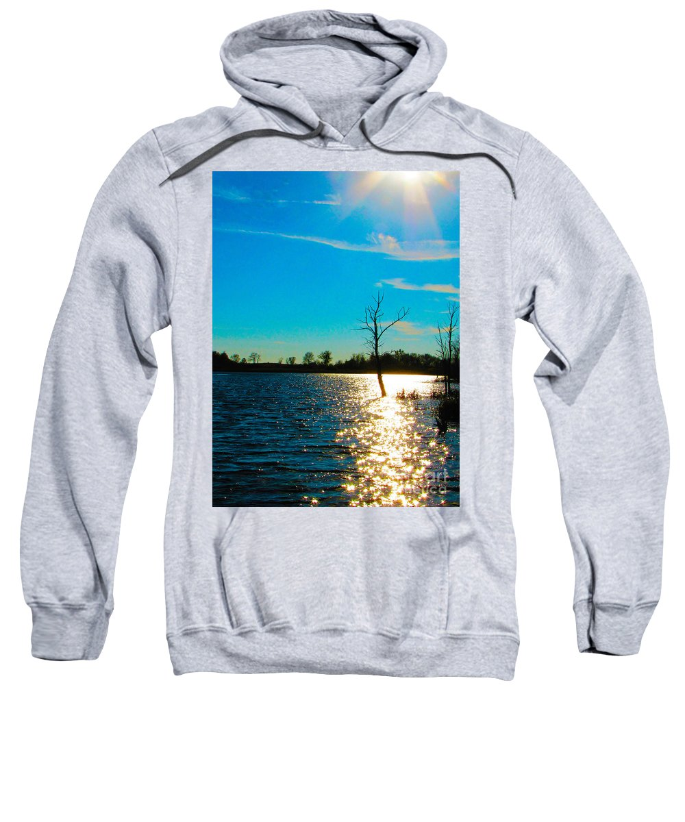 Time In The Sun Sweatshirt featuring the photograph Time In The Sun by Ron Tackett