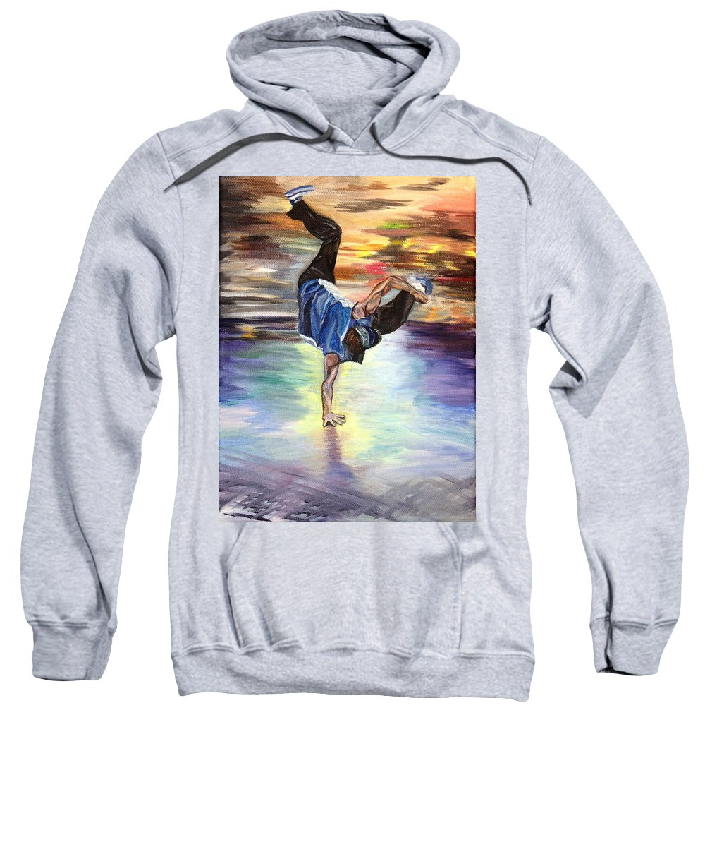 Sweatshirt featuring the painting Time To Shake Things Up by Stephanie Hatfalvi