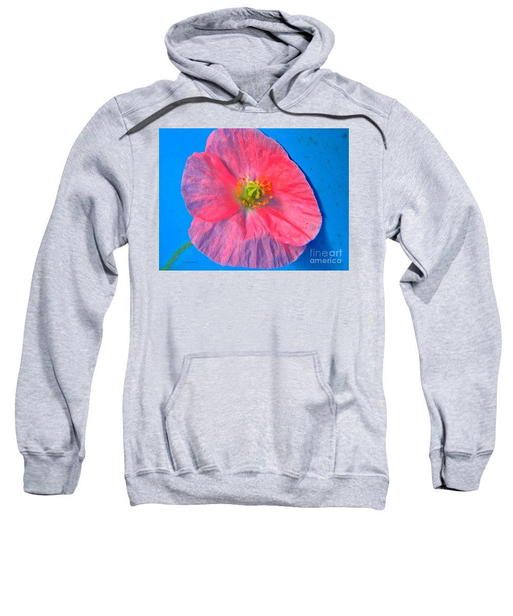 Nature Sweatshirt featuring the photograph Tiny Poppy by Chris Berry