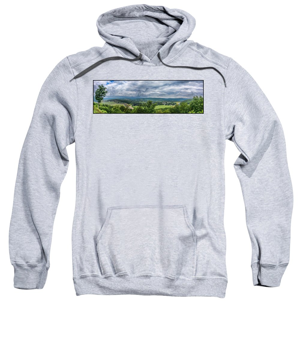 Guy Whiteley Photography Sweatshirt featuring the photograph Tioga Overlook by Guy Whiteley