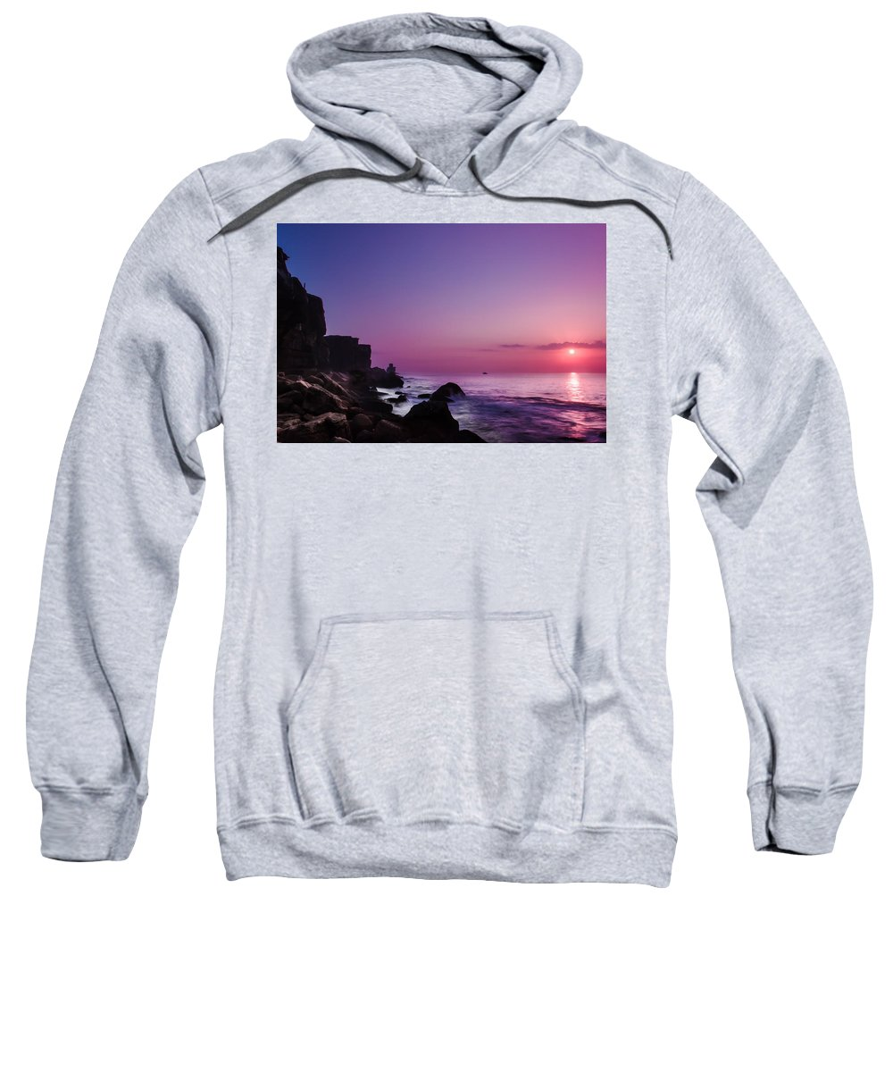 Sunset Sweatshirt featuring the photograph To Reach The Blue Hour by Edgar Laureano