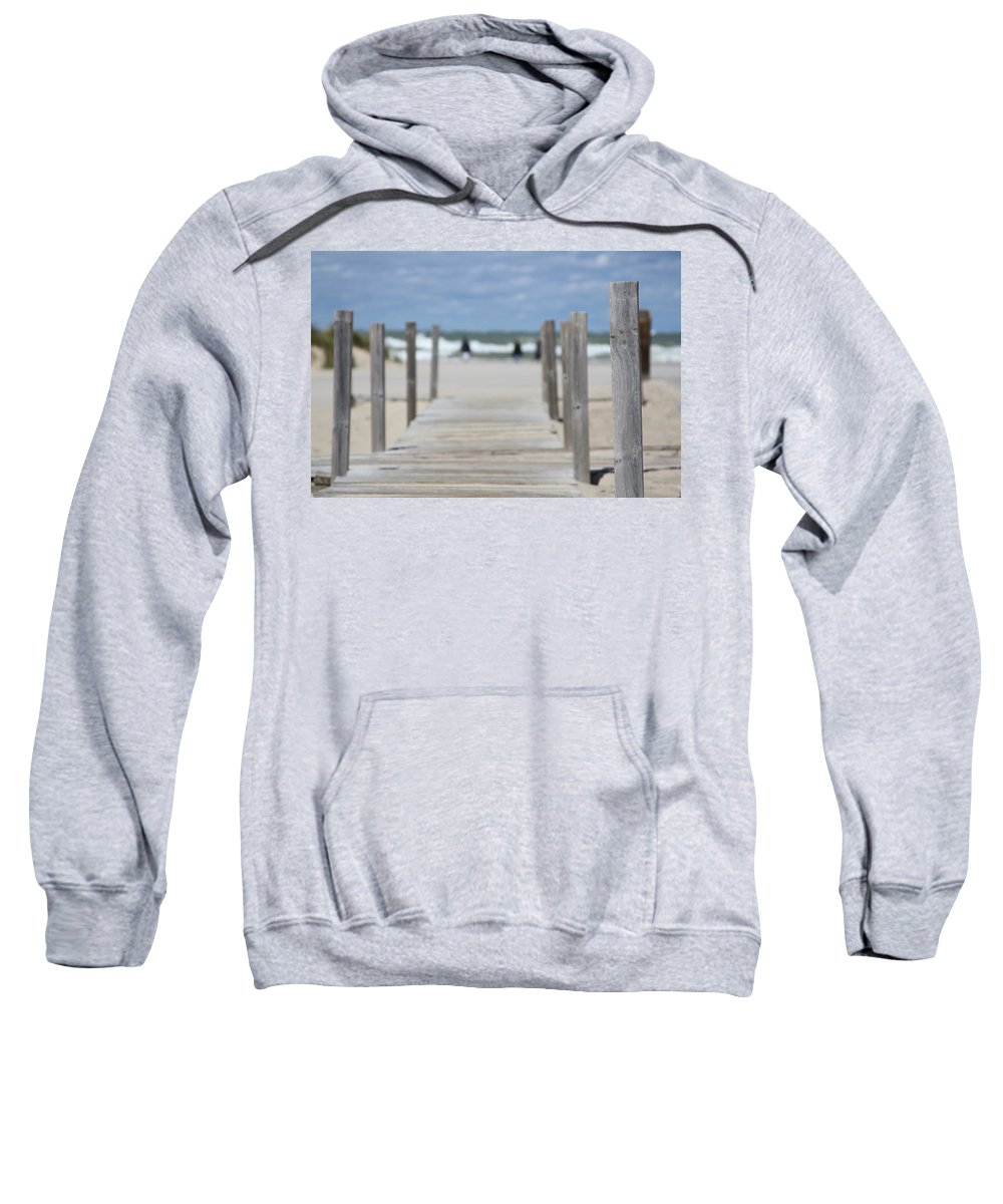 Boardwalk Sweatshirt featuring the photograph To The Ocean by Jacqui Hall