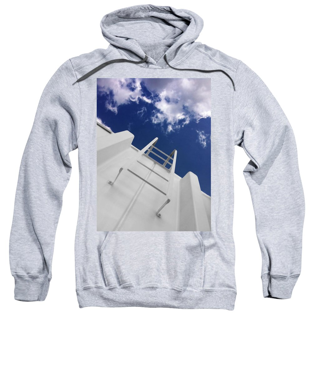 Ladder Sweatshirt featuring the photograph To The Top by Don Spenner